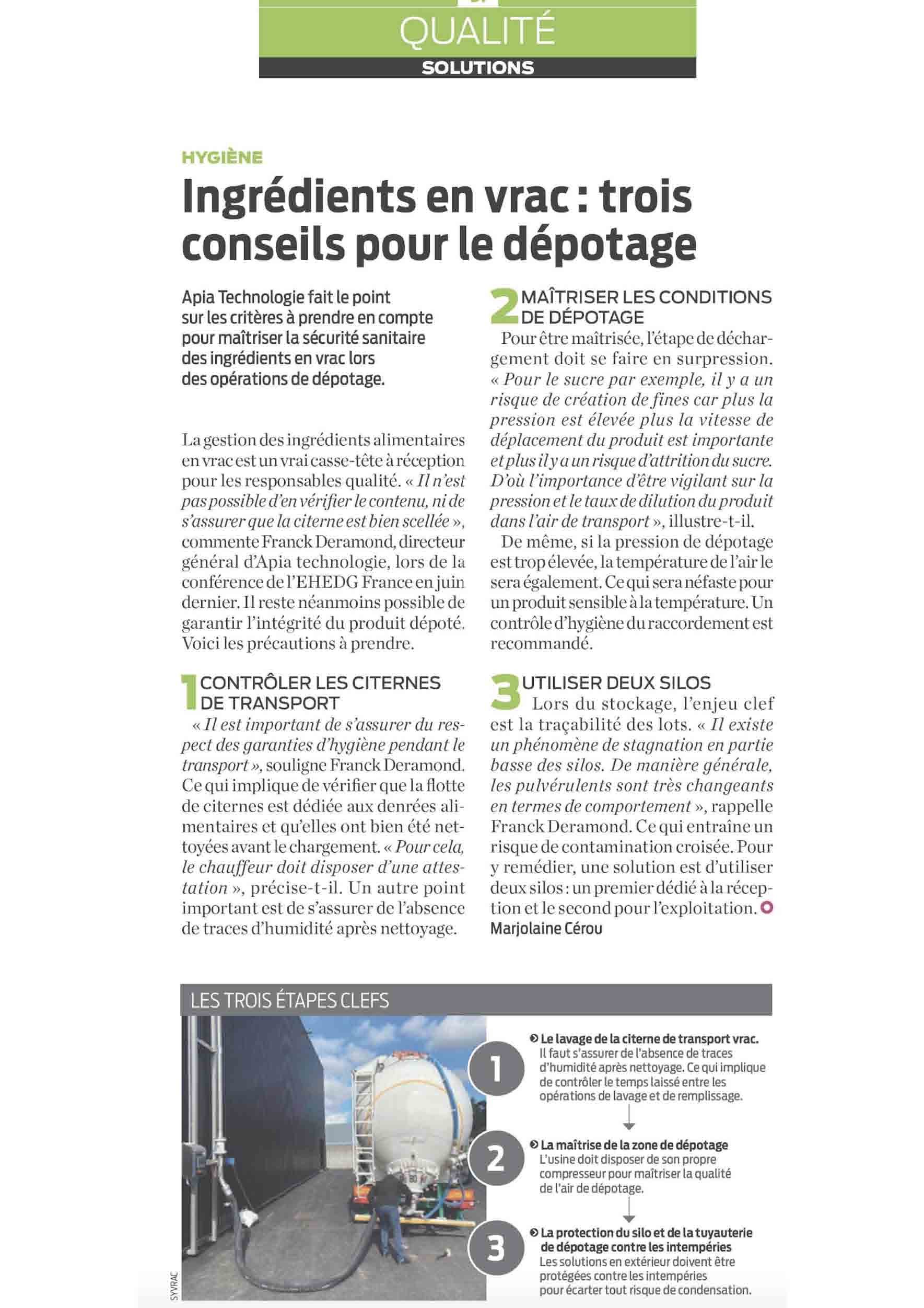 Process Mag 1383. - Conseils depotage