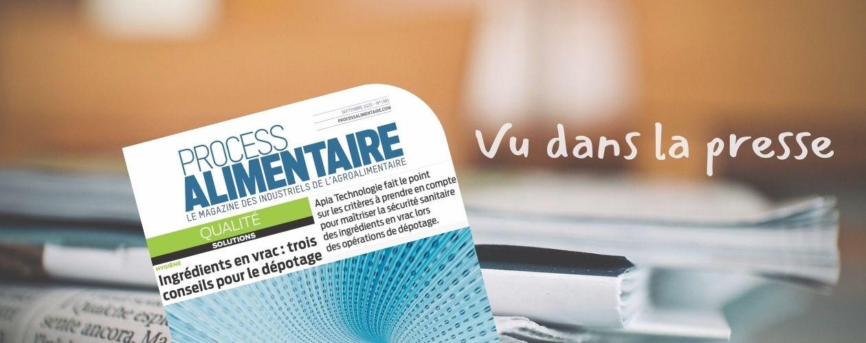 Process Magazine : Dépotage des ingrédients en vrac - Interview Franck DERAMOND